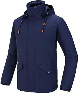 CAMEL Men's 3 in 1 Ski Jacket with Inner Warm Fleece Detachable Hooded Snow Coat Waterproof Mountain Jacket