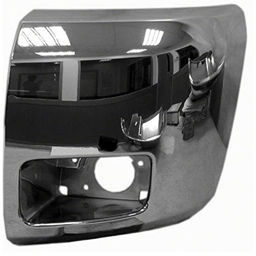 Chrome Finish Front Bumper Extension Outer for 07-13 Chevrolet Silverado 1500