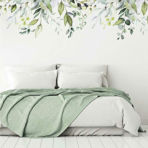 RoomMates RMK4412TBM Hanging Watercolor Leaves XL Giant Peel and Stick Wall Decals