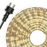 Dilego 20m Microlichter Lichterschlauch Lichtschlauch warm-weiß – Innen- und Außenbereich –...