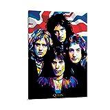 CHAOZHE Póster de la película Queen The Best Rock Band de la leyenda británica sobre lienzo y arte de la pared con impresión moderna para dormitorio familiar, 30 x 45 cm