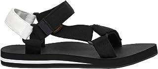 CUSHIONAIRE Women's Summer Yoga Mat Sandal with +Comfort Black/White, 7