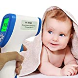 Digital Laser Infrared IR Thermometer Body Surface Pyrometer Non-Contact Forehead Gun Temperature Meter with Backlight,Blue