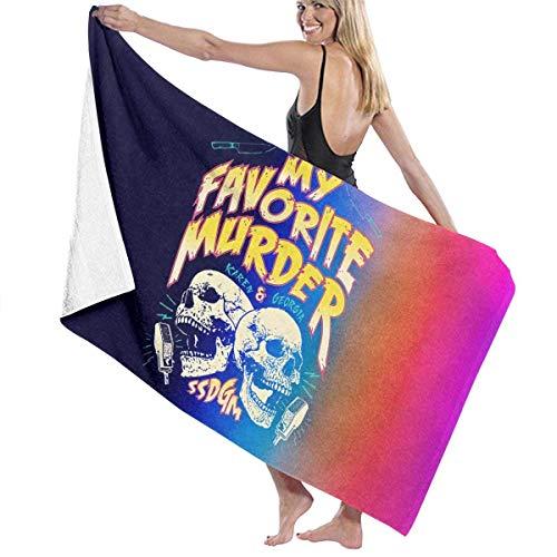 My Favorite Murder Tour Toallas de baño para Piscina / Playa Microfibra súper Absorbente Suave Manta de Toalla Impresa de una Cara tamaño 31 Pulgadas x 51 Pulgadas