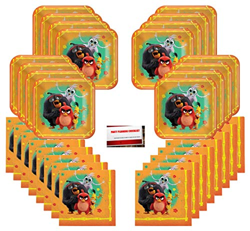Angry Birds Birthday Party Supplies Bundle Pack for 16 Guests (Plus Party Planning Checklist by Mikes Super Store)