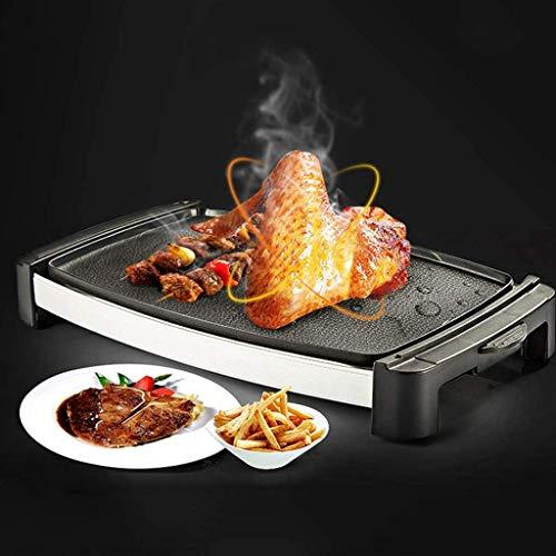 51FgPW92l0L - Logo 1800W elektrischer Teppanyaki Grill, Smokeless Antihaft-Barbecue-Maschine, gegrilltes Fleisch Pfanne mit Kochplatte, for Tisch Camping im Freien Garten-Grill Grillzubehör