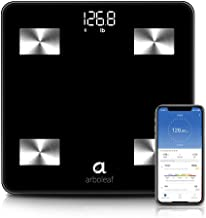 Arboleaf Weight Scale - Smart Scale Bluetooth Body Fat Scale Wireless with iOS, Android APP, Unlimited Users, Auto Recognition, 10 Body Composition Analyzer, Fat, BMI, BMR, Muscle Mass, 396 lb - Black