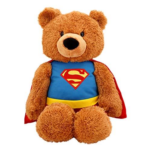 Superman Plush Stuffed Animal 20 in DC Comics Superhero Plush Teddy Bear Fuzzy Polyester Blend