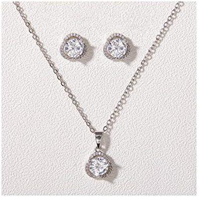SWEETV Cubic Zirconia Bridesmaid Jewelry Set for Wedding Bridal Jewelry Set for Women Brides product image