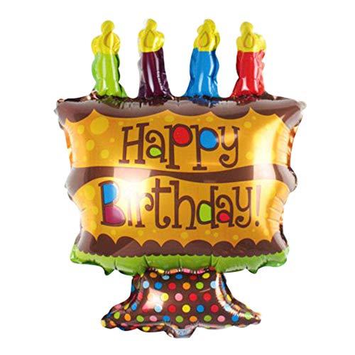 Lsgepavilion - Globo Hinchable de Aluminio con Forma de Tarta para Fiesta de cumpleaños, Festival, Juguete para niños