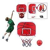 Voluxe Tabla de baloncesto colgante de Netball, mini tabla de baloncesto, plástico+hierro ligero para interiores y exteriores, relación entre padres e hijos, juguete de juego con bomba de aire