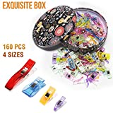 160 Quilting Sewing Clips - Premium Storage Tin Box