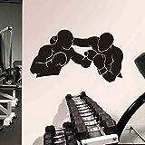 AKmene Pegatina de Pared de Boxeo Kick Boxer Guantes de Juego decoración del hogar de Vinilo decoración de la Pared 33x58cm