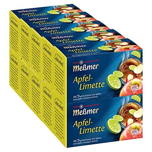 Meßmer Apfel-Limette, 20 Beutel, 10er Pack (10 x 50 g)