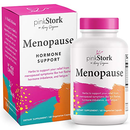 New Release - Pink Stork Menopause: Menopause Relief: Ashwagandha to Support Estrogen Levels & Black Cohosh for Hot Flashes, Supports Weight Loss & Hormonal Balance, Women-Owned, 60 Capsules