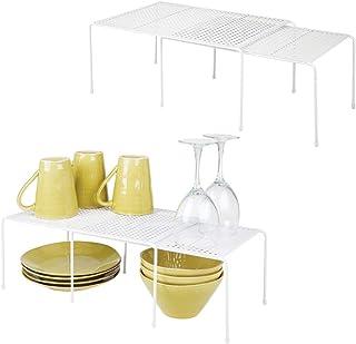 mDesign étagère de Cuisine (Lot de 4) – égouttoir Pratique pour Plus d'espace de Rangement – étagère Cuisine télescopique ...