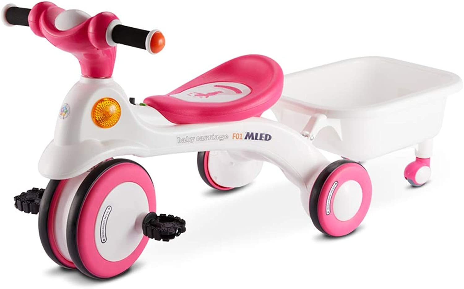 Kids' Tricycle, with Basket and Growwith Seat, for 13 Years Old Toddler