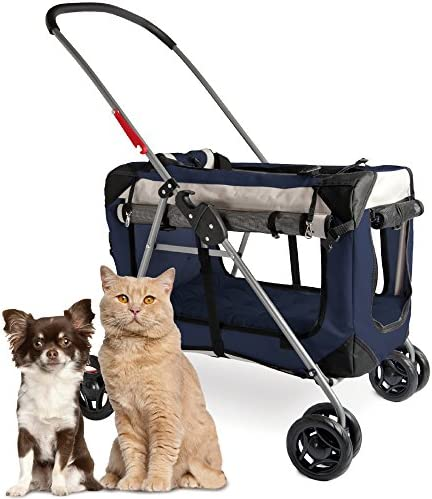 PetLuv Happy Cat Premium 3 in 1 Soft Sided Detachable Pet Carrier Travel Crate and Pet Stroller product image