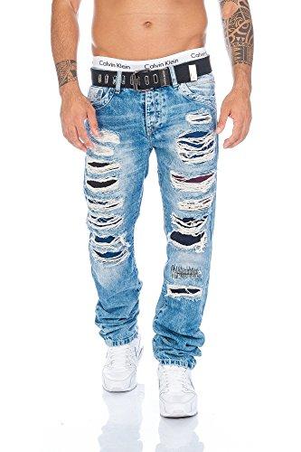 Cipo & Baxx Herren Jeans Hose Destroyed
