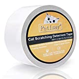 PetIsay Schutzklebeband für Möbel, Gegen Katzen-Kratzen, Cat Deterrent(6,5 cm x 13,7 M)