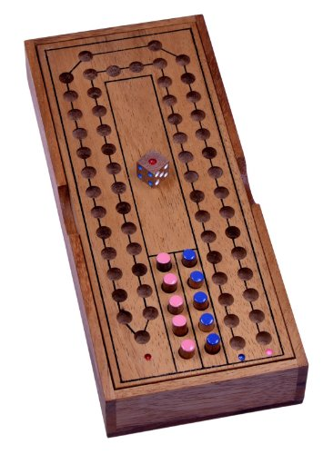 LOGOPLAY Pferderennen - Horse Race - Würfelspiel - Brettspiel aus Holz