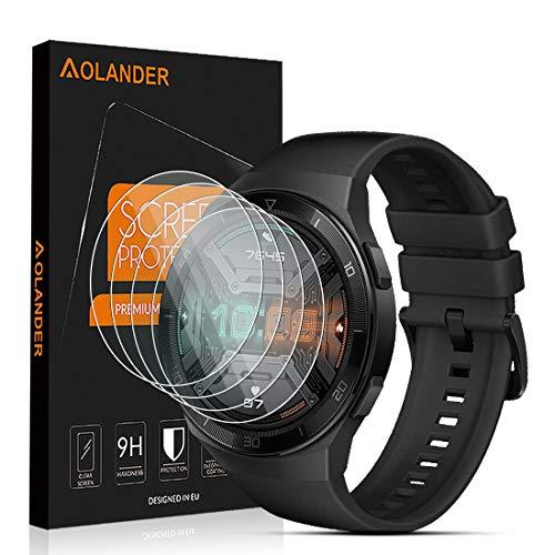 AOLANDER per Huawei Watch GT 2e Pellicola Protettiva Vetro Temperato, 9H Durezza Protezione dello schermo Screen Protector [Scratch Resistente] [Senza Bolle] Proteggi Schermo4 Pack