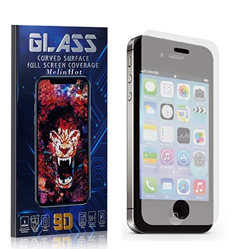 MelinHot Displayschutzfolie für iPhone 4S / iPhone 4, Anti Fingerabdruck, Ultra Dünn Blasenfrei Schutzfolie aus Gehärtetem Glas für iPhone 4S / iPhone 4, 4 Stück