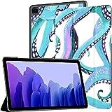 Funda para Samsung Galaxy Tab A7 Tableta de 10,4 Pulgadas 2020 (sm-t500 / t505 / t507), Fondo de Pantalla de tentáculos de Pulpo de Acuarela Patrón sin Costuras Cubierta de Soporte de múltiples ángul