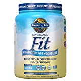 Garden of Life Raw Organic Fit Powder, Vanilla - High Protein for Weight Loss (28g) plus Fiber, Probiotics & Svetol, Organic & Non-GMO Vegan Nutritional Shake, 10 Servings