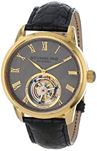 Stuhrling Original Men's 536.333X2 Tourbillon Limited Edition Meteorite Mechanical Gold-Tone Watch Shop and Online and review