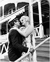 Some Like It Hot Marilyn Monroe And Tony Curtis Embracing On Hotel Steps 8 x 10 Photo