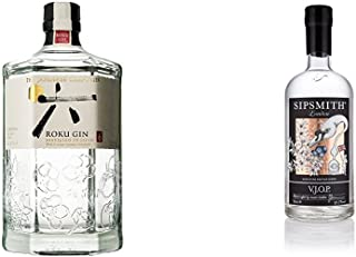 Premium Gin Probierpaket: Japanese Roku Gin  Sipsmith VJOP Batch No.1 2 x 0.7 l