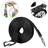 ASEOK - Corda elastica elastica per bagagli, corda elastica universale, resistente, con gancio in acciaio al carbonio, adatta per biciclette, auto elettriche (4 m, nero)