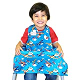 Bib-On, Full-Coverage Bib and Apron Combination for Infant, Baby, Toddler Ages 0-4. (Planes)