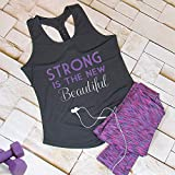 Strong Is The New Beautiful Slogan Gym Vest Top