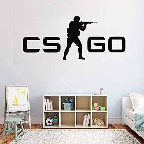 yaonuli Jugend raumdekoration Aufkleber Spiel Counter Strike wandaufkleber tapete Vinyl kunstwandhauptdekoration Aufkleber 144X63 cm