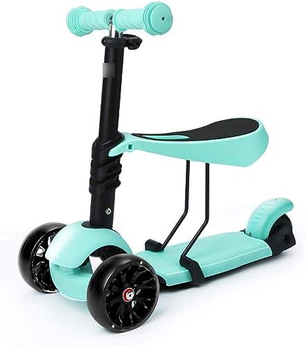 Kinderscooter Kinder Roller 3-Rad-yo Auto 3-6 Jahre alt k en drei-in-einem-Multifunktions-Kinderscooter Sicherheit stabile Pedal Rutsche einzigen Fu anglebig tragenden starken Roller Sätzen