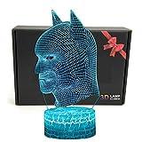 LED-Superheld 3D-Lampe mit optischer Illusion,