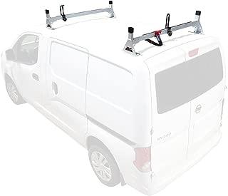 H1 2 Bar for Nissan NV200 Steel Ladder roof Rack 2013-On, White