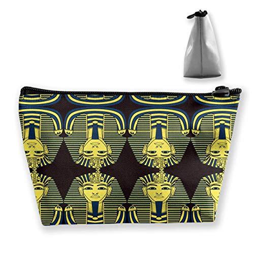 Gouden Tutankhamun make-up tas toilettas reizen cosmetische zakken zak
