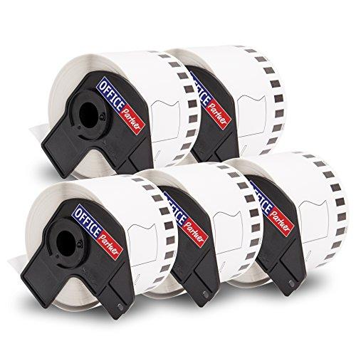 5 compatible etiquetas continuas por BROTHER DK-22205 papel térmico 62mmx30,48m para P-Touch QL 500 500A 500BS 500BW 550 560 560VP 560YX 570 580 580N 650TD 700 710W 720NW 1000 1050 1050N 1060N