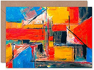 Fine Art Prints Abstrakt expressionism målning gratulationskort med kuvert inuti premiumkvalitet