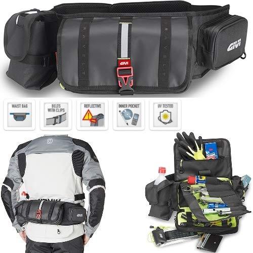 Uitlaat voor motorfiets scooter GIVI GRT710 bagagedrager met opbergvak voor gereedschappen, bagagedrager, waterproof IP X5 zwart TASCA PRINCIPALE, SECONDARIA, LATERALE