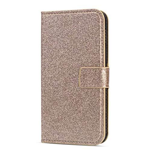 Glitzer Handyhülle für Samsung Galaxy S21+ Plus Hülle Bling Strass Diamant Wallet...