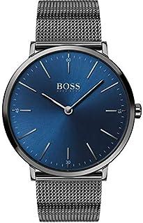 Hugo Boss Men'S Blue Dial Ionic Plated Grey Steel Watch - 1513734