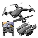 JJDSN Dron Plegable Ultraligero, dron GPS con cámara 4K para Adultos Hexacóptero RC con Retorno automático, Motor sin escobillas, Vuelo de Punto de Referencia, Modo sin Cabeza, Vuelo de 30 Minutos