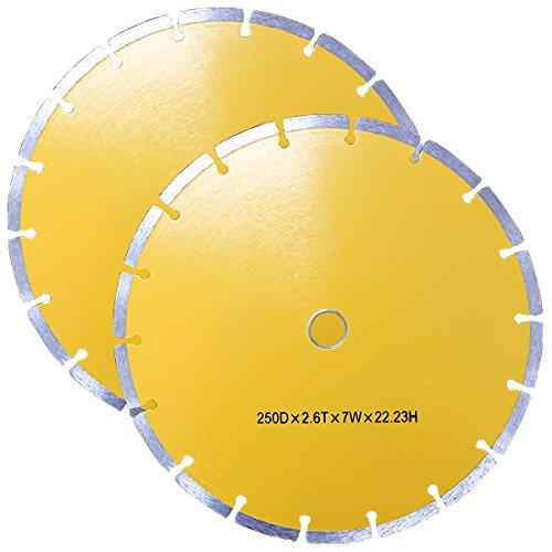 WEIMALL 【2枚セット】ダイヤモンドカッター 250mm 替刃 替え刃 DC250