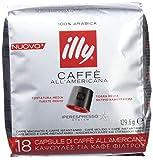 Illycaffè - 6 Cubos de 18 cápsulas Iperespresso para Café Americano del Tueste Medio, Total 108 cápsulas