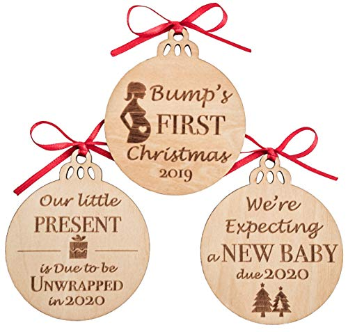 Heart's Sign Pregnancy Gifts - Wooden Decor Christmas Ornaments | Expectant Mom,...