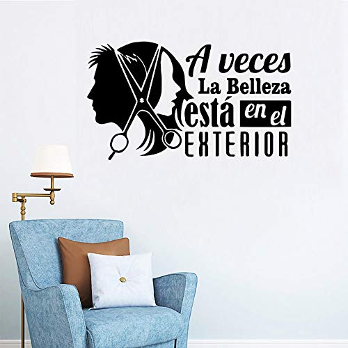 DIY Haarschneiden Wandtattoos Wohnzimmer abnehmbares Wandbild Kinderzimmer Dekoration Dekoration Zubehör Wandtattoos A6 28x48cm